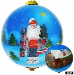 Mountain Santa Ornament