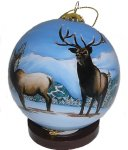 Winter Elk Ornaments