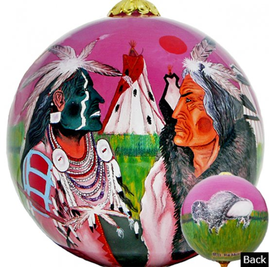 Plains White Buffalo Ornaments - Click Image to Close