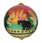 Winter Summer Bear Ornament