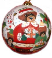 Teddy Santa Ornaments