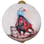 Barrel Racer Ornament