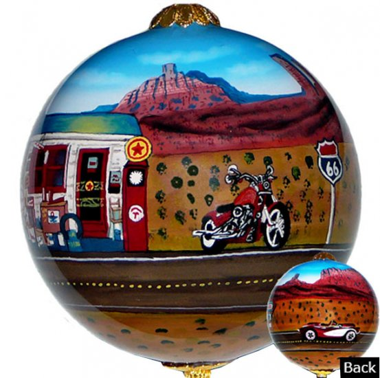 Route 66 Corvette Red Ornaments - Click Image to Close