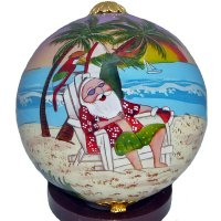 Santa Holiday Ornament