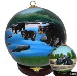 Black Bear Family Ornaments