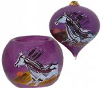 Purple Dawn Ornament & Votive