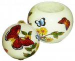 Yellow Butterflies Ornament & Votive