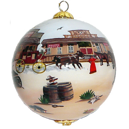 Western Town Ornament - Click Image to Close